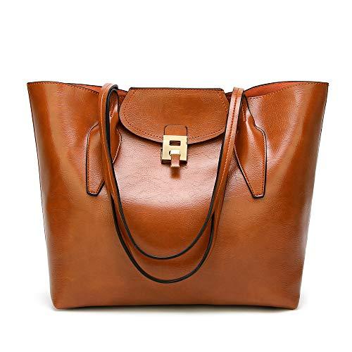 sche für Frauen, Frauen Top Griff Satchel Handtaschen Umhängetaschen Tote Geldbörse Frauen Casual Handtasche Schulter-Handtasche (Color : Brown) ()