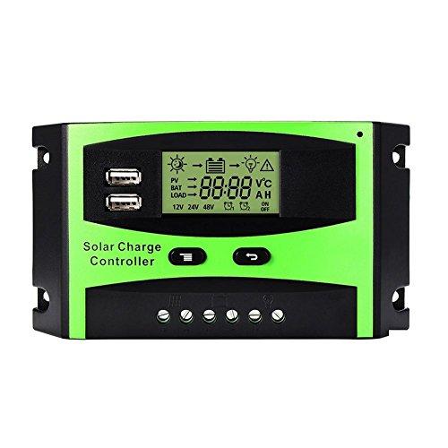 Parámetros del producto: Voltaje: 12V / 24V   Máxima corriente de generación: 30A   Tensión fotovoltaica máxima: 50V   Modo de carga: PWM   Temperatura de trabajo: -35 ° C - +60 ° C   Nivel de agua: IP32      Nota: ¡El controlador de carga primero...