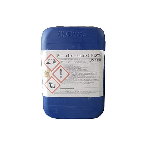 Lapi – 25 kg Cloro Liquido Utilizzabile Anche Con Pompe Dosatrici