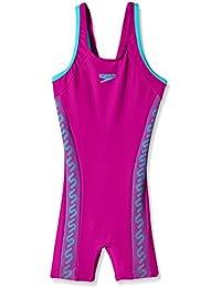 Speedo Girls Swimwear Monogram Legsuit