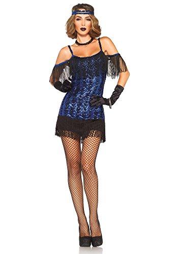 Leg Avenue 85369 - Gatsby Flapper Damen kostüm , Größe Large (EUR 40), Karneval (Damen Gatsby Erwachsene Flapper Kostüme)
