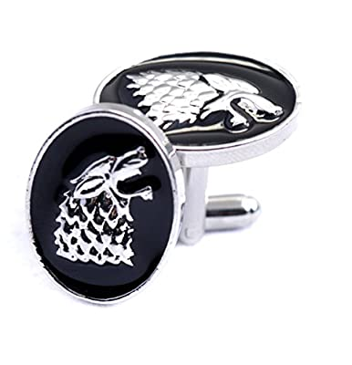 Stark Wolf Head Cufflinks Game Of Thrones - Shirt Accessories for Men - Wolf Cufflinks - Fashion for Men