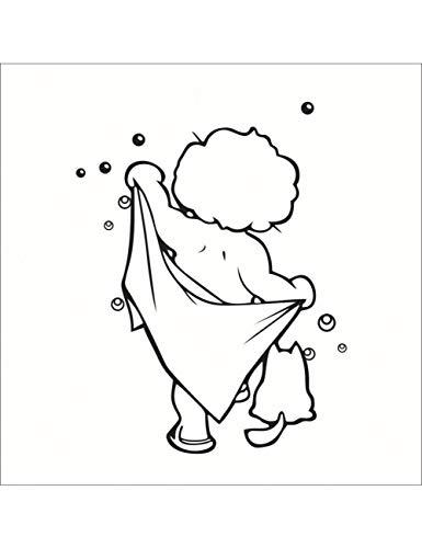 Badezimmer Nette Kinder Dusche Aufkleber Für Fliesen Gläser Wohnkultur Wandaufkleber ()