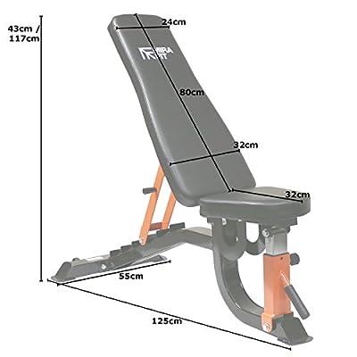 MiraFit - FID-Hantelbank mit verstellbaren Positionen (flach & neigbar) - strapazierfähig & belastbar bis 260 kg