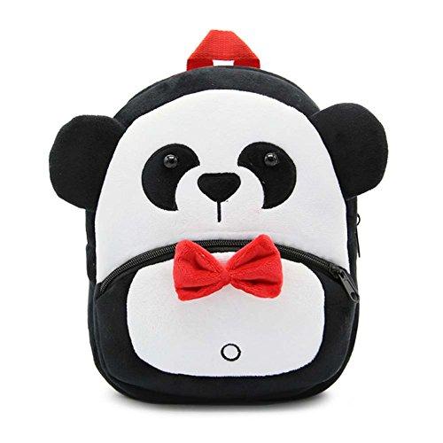 MISM Zaino per scuola materna Zaino scuola per bambini Zaino per bambini Mini peluche Simpatico animaletto (Panda)