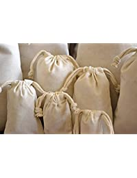 Set Of 4- Vegetable Bags/Fruits Bag/Fridge Bags/Veggie Bags/Storage Bags. Keep It Fresh & Go Green Reusable Cotton...