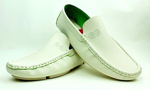Unisexe Mocassin À Enfiler Décontracté Mocassins Chaussures Semelle Antidérapante Confort Mode Semelle Tailles Blanc