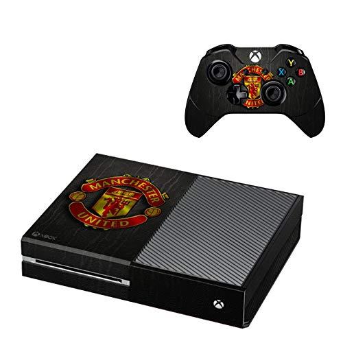 Xbox One Konsole + 2 Controller Design Manchester United Schutzfolie Skin Faceplates Schutz Folie ( Herstellung in Deutschland ) - Controller-manchester One Xbox