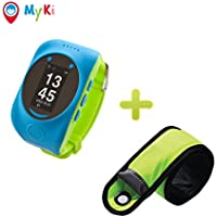 MyKi Smart Watch Children's GPS Tracker SOS Call Real Time Location Finder, Controlled by Apple and Android Phone … (Blue)