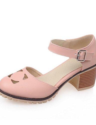 WSS 2016 Chaussures Femme-Mariage / Soirée & Evénement / Habillé / Décontracté-Bleu / Rose / Blanc-Gros Talon-Talons-Talons-Similicuir pink-us9 / eu40 / uk7 / cn41
