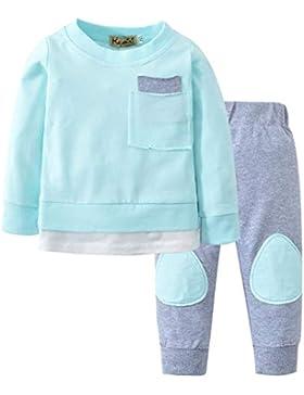 Conjuntos Bebe, ASHOP 0-24 Meses Niño Niña Otoño/Invierno Ropa Conjuntos, Camisetas de Manga Larga + Pantalones