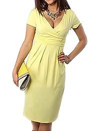 hibote Vestido de maternidad de las mujeres Vestido de embarazo con cuello en v Ropa de