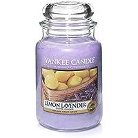 Yankee Candle candela profumata in giara grande, Lavanda e limone, durata: fino a 150 ore