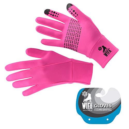 WIFA Eislauf und Trainingshandschuhe Touchscreen rutschfest atmungsaktiv für Kinder und Erwachsene (pink, 1)