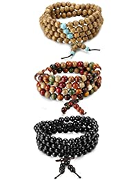 CheersLife 3PCS Friendship Bracelets for Women Girls Handmade Braided Multicolor Hand Woven Wrap Strings 2AeaC