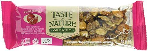 Taste of Nature Müsliriegel Organic Persian Pomegranate Garden, 4er Pack (4 x 40 g) - Bio