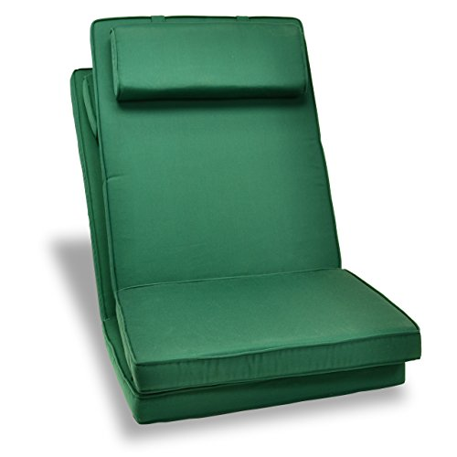 Nexos GL06003_SL2 DIVERO hochwertiges 2-er Set Sitzauflagen Auflage Polster für Hochlehner Gartenstuhl Gartensessel Klappstuhl in dunkelgrün, grün (2-er Klappstuhl Set)