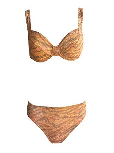 Solar Tan Thru Bügel-Bikini 121321-53 braun/orange, Gr. 38 B-Cup