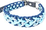 Viva Nature Handgemachtes Hunde-Halsband/verstellbar 35-42 cm \ Paracord/Geflochten/Hund (blau)