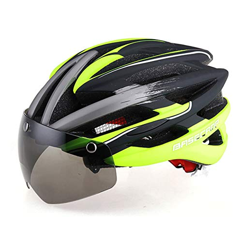 SuperGao Occhiale da Ciclismo Grigio di Aspirazione con Casco per Occhiali da Vista Equipaggiamento per Casco da Mountain Bike Monopezzo da 57-62 Cm,D