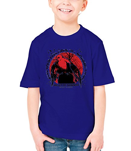 Three Monkeys Instinct To Survive Animals Collection Boys Classic Crew Neck T-Shirt Dark Blue Medium