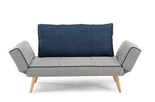 EBS® Schlafsofa Sofabett 3 Sitzer Sofa Klappsofa Modern Design Weißes Sofa Sectional Möbel