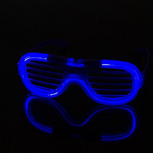 2f93ee936ed Kicode Luz LED Guay Lentes parpadeantes Tonos del Obturador Gafas de Sol  Brillantes para Rave Fiesta