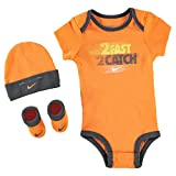 Nike Age Newborn 0-6 Months 3 Piece Infant Baby Boys Set Hat Sports Beanie Bootie Sho...