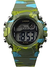 676815ac56d1 Moda Reloj Unisex Niño Reloj Hombre Relojes Inteligente LED Digital con  Banda de Silicona Smartwatch Impermeable