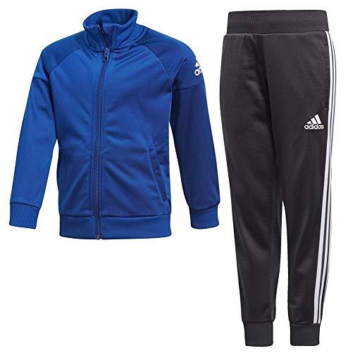 adidas Jungen Knit Trainingsanzug, Blau(Collegiate Royal/White/Carbon), Größe 116