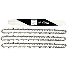 """1 espada y 3 tallox cadenas de sierra 3/8"""" 1,3 mm 52 eslabones 35 cm compatible con Oregon Bosch Dollmar Hitachi Echo Einhell Makita Husqvarna y otras"""