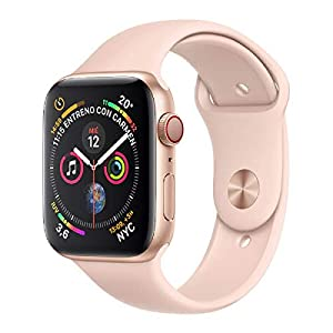 Apple Watch Series 4 (GPS + Cellular) con caja de 40 mm de aluminio en oro y correa Loop deportiva rosa arena