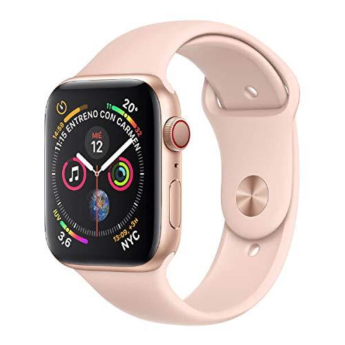 AppleWatch Series4 (GPS+Cellular) con caja de 40mm de aluminio en oro y correa Loop deportiva rosa arena