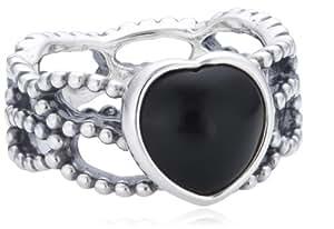 Pandora Damen-Ring 925 Sterling Silber Onyx schwarz Gr. 52 (16.6) 190874ON-52