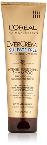 L'Oreal Paris EverCreme Sulfate-Free Moisture System Intense Nourishing Shampoo, 8.5 Fluid Ounce by L'Oreal Paris (Moisture Free Shampoo Sulfate)