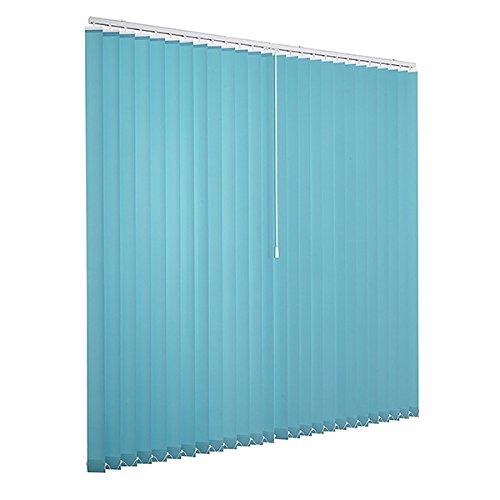 Lamelle tenda set completo ventanara vertikaljalousie 89mm con materiale di montaggio, turchese, 200x250 cm (breite x höhe)