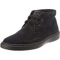 FRAU Scarpa Uomo, Sneaker a Collo Alto Blu, 44 EU