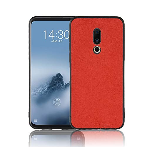Meizu 16 Back Cover, Plush PatternCover PC+TPU Slim Case Shockproof Soft 2 in 1 Hybrid Phone Case Anti-Scratch Protective Cover Silicion Cover Skin Protector Shell - Red