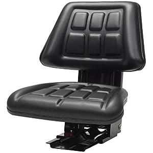 vidaXL 142316 Traktorsitz mit Federung Schwarz Schleppersitz Staplersitz Baggersitz,