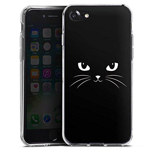 Apple iPhone X Silikon Hülle Case Schutzhülle Black Cat Katze Kater Silikon Case transparent