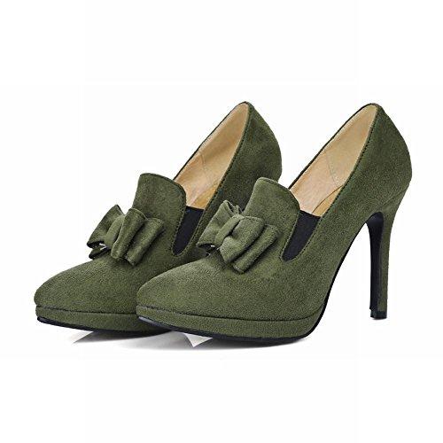 Misssasa Mujer Encantadora Zapatos Verde