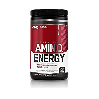 Optimum Nutrition Amino Energy Pre Workout Energy Performance Supplement with Beta Alanine, Caffeine, Amino Acids and Vitamin C. Performance Supplement  - Fruit Fusion, 30 Servings, 270g