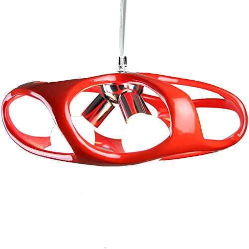 Tre lampadari personalità della moda seng linea pesce luci del ristorante del lampadario a bracci scale per bambini studio lampada della stanza resina lampada da letto caffè pendente 22cm * 48cm ( colore : rosso )