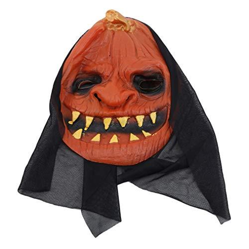 Sevenfly Neuheit Halloween Silikon Kürbis Kopf Maske Gruselig Unheimlich Dekorationen Kostüm Party Requisiten Masken, Canine