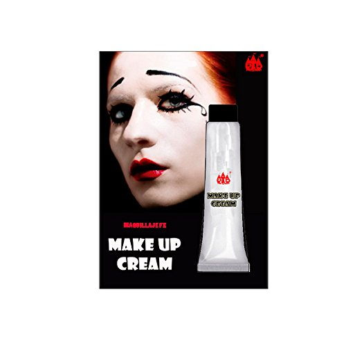 Maquillaje crema Blanco Tubo 28 ml Pinturas Carnaval