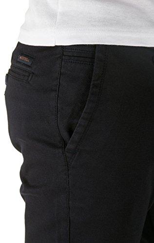 WOTEGA Herren Chino Hose Pattern - Slim - Chinohose gemustert Blau (Dark Navy 194013)