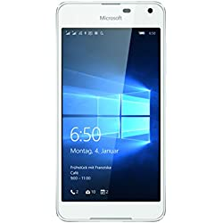 Microsoft Lumia 650LTE DualSim a00027040Smartphone (12,7cm (5Pouces) Écran AMOLED HD, Snapdragon 212Quad-Core, 1,3GHz, 8Mpx, Windows 10) Blanc