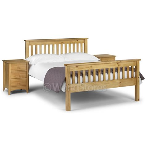 "Monaco 4'6"" Bed High Foot End in Antique Pine"