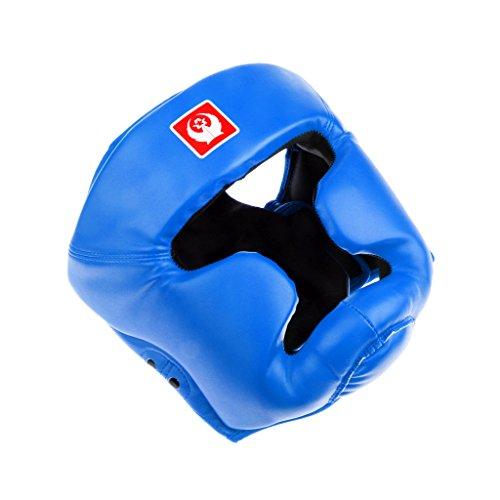 MagiDeal Cerrado Cabeza Llena La Cara De Guardia Casco De Boxeo MMA Y