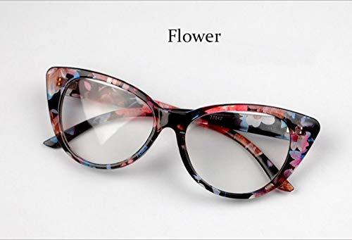 MOJINGYAN Sonnenbrillen Mode Brillen Cat Eye Optische Gläser Frauen Transparente Brillenmarke Designer Vintage Clear Lens Frame, C